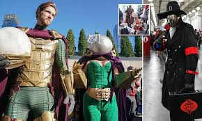 <b>Cosplayers</b> arrive for Day 3 of <b>2019 New</b> York Comic Con showing ...