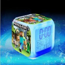 <b>Kids Led</b> reloj despertador Digital Alarm <b>Clock</b> Cartoon minecraft ...