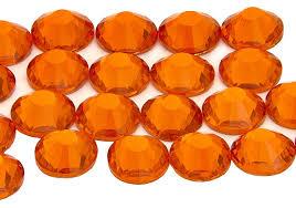<b>Hyacinth</b> Orange EIMASS 7787 Grade A Flat-Back Non-<b>Hot</b> Fix ...