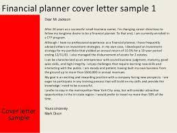financial planner cover letter   financial planner cover letter