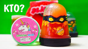<b>СЛАЙМ</b> БИТВА! <b>Slime</b> Ninja VS Unicorn <b>Crystal</b> Mud - YouTube