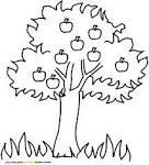 Яблоко на дереве раскраска