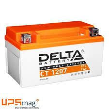 <b>АКБ Delta</b> CT 1207 (12V, 7Ah) для мототехники купить недорого ...