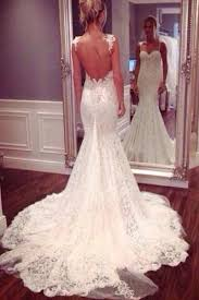 <b>Sexy Backless Mermaid Lace Wedding</b> Dresses, 2017 Long Custom ...