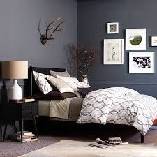 view in gallery modern bed with mid century style black bedroom furniture wall color