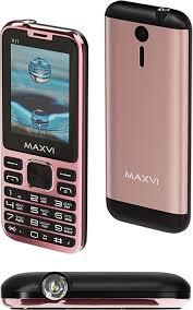 Мобильный <b>телефон MAXVI X11</b> Rose gold — купить в интернет ...