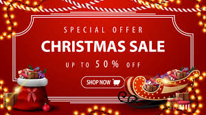 Special offer, christmas sale, <b>modern red</b> discount banner with ...