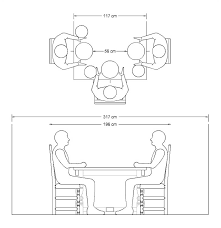 dining table seat room dimensions