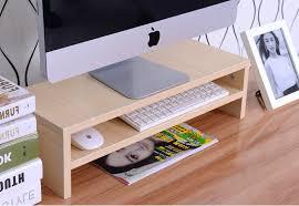 table cheap office computer lcd monitor base increased shelf bracket keyboards desktop storage cheap office storage