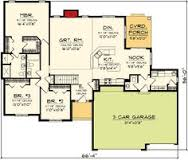 images about House on Pinterest   House plans  Floor Plans    Plan AH  Traditional Ranch Home Plan