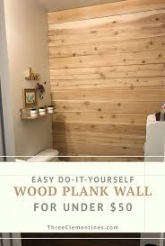DIY <b>Wood Plank Wall</b> On A Budget - Three Clementines | Plank ...