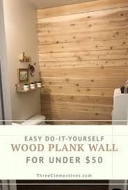DIY <b>Wood Plank Wall</b> On A Budget - Three Clementines | Plank ...