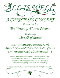 christmas concert flyer the voices of flower mound voices of flower mound 2013 concert flyer