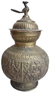 Old Antique Silver Mix Pot With Old Indian Artwork Of ... - Amazon.com