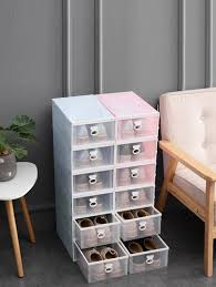 <b>1pc</b> Drawer Design Shoes <b>Storage Box</b> | ROMWE