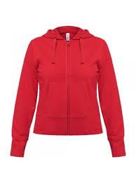 <b>Толстовка женская Hooded Full</b> Zip красная