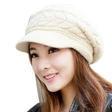 STORTO Women Winter Beanie Hat Solid Knitted ... - Amazon.com