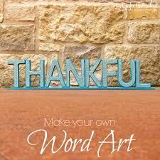 wood letter art thankful home decor tutorial supplies needed to make your own wood letter art