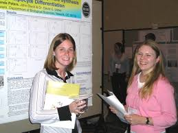 Meghan Bills and Mandy Peters at the ASBMB Undergraduate Poster Competition - M%26M