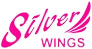 Серебряные <b>серьги</b> капельки с подвесками <b>Silver Wings</b> ...