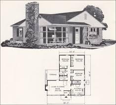 Weyerhauser House Plan   Small Modern Ranch Style Home     Weyerhauser   Design No