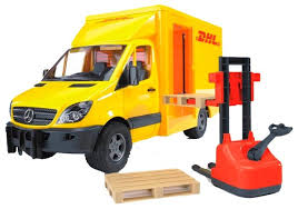 Набор техники <b>Bruder</b> Фургон DHL с погрузчиком <b>Mercedes</b>-<b>Benz</b> ...