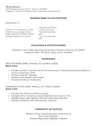 good resume objective for bank teller service resume good resume objective for bank teller bank teller resume sample no experience entry level good resume
