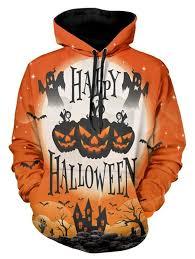 <b>Halloween Pumpkin</b> Lamp <b>Print Drawstring</b> Hoodie | Cosplay Anime ...