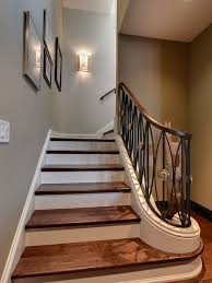 basement stair sconce home design photos basement stairwell lighting