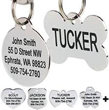 GoTags Stainless Steel Pet ID Tags, Personalized ... - Amazon.com