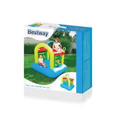 <b>Bestway Батут надувной</b> 142х142х165 см, грузоподъёмность 65 ...