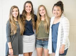 hoosier girls state delegates zionsville community high school juniors kayley adams jaclyn pullen saengrawee sintananukyl and claire badger