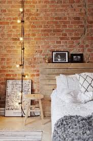 25 gorgeous bedroom decorating ideas exposed brick walls wooden headboard mixed with diamond bedroomterrific eames inspired tan brown leather short