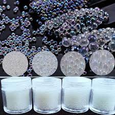 <b>10 g</b>/box No Hole Micro <b>Nail</b> Art Beads iridescent clear AB color 0.6 ...