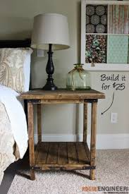 ideas bedside tables pinterest night: rustic square bedside table  easy and cheap diy nightstand ideas for your bedroom