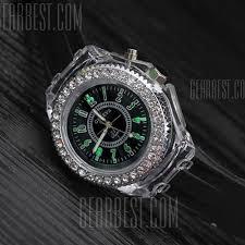 LED <b>Fashion Colorful</b> Luminous Glowing Quartz Watch Silicone ...
