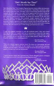 did i really say that the complete pageant interview guide did i really say that the complete pageant interview guide charles j margolis 9781468147612 com books