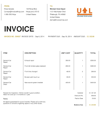 doc example of invoice form template for sample doc 513666 example of invoice form template for sample