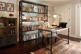 chic and stylish old school office interior design of noe valley home by lauren geremia chic office interior design