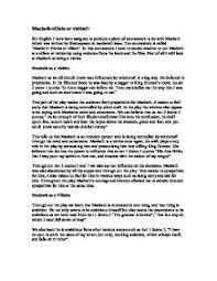 macbeth essay tragic heroshakespeare macbeth essay  thesis examples for essays on macbeth     macbeth tragic hero