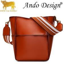 Tote Bag For Women Girls <b>Genuine Cow Leather Fashion</b> Shoulder ...