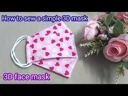 How to sew a simple 3D mask | How to make a <b>3D face mask</b> at ...