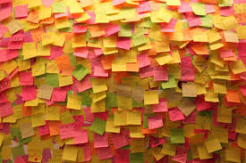 Image result for post it notes wall
