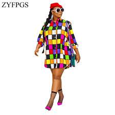<b>ZYFPGS 2019</b> Spring Top Ladies' Dress Colorful Splice Dress ...
