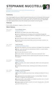 social media intern resume samples marketing internship resume samples