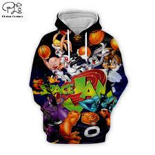 <b>Men Cartoon anime</b> bugs Bunny basketball 3d hoodies Sweatshirt ...