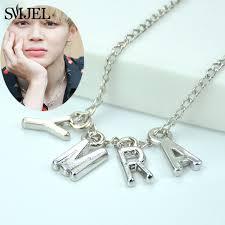 <b>SMJEL KPOP</b> Army Letter Necklaces Men Women Fashion <b>Bangtan</b> ...
