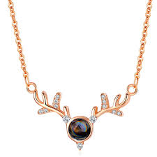 A Deer Has Your <b>Antler Necklace</b> Female <b>100 Languages</b> I Love ...