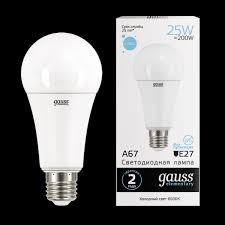 """<b>Лампа</b> LED """"груша А67"""" Е27 25Вт (2100Лм) 6500K 230В <b>Gauss</b> ..."""