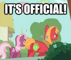 it's official! | My Little Pony: Friendship is Magic | Know Your Meme via Relatably.com